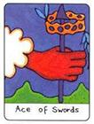 african - Ace of Swords