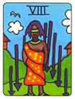 african - Eight of Swords