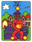 african - Four of Pentacles