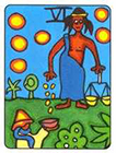african - Six of Pentacles