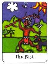 The Foolish Man Tarot Card - African Tarot Deck