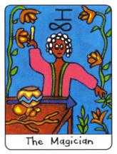 The Magician Tarot Card - African Tarot Deck