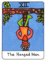 The Hanged Man Tarot Card - African Tarot Deck