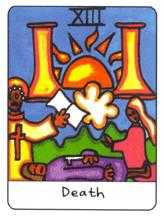 The Close Tarot Card - African Tarot Deck