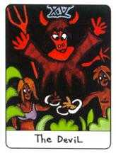 The Devil Tarot Card - African Tarot Deck