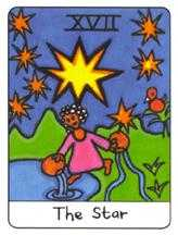 The Star Tarot Card - African Tarot Deck