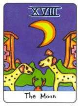 The Moon Tarot Card - African Tarot Deck