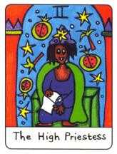 The High Priestess Tarot Card - African Tarot Deck