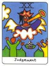 The Judgment Tarot Card - African Tarot Deck