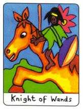 Knight of Lightening Tarot Card - African Tarot Deck