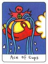 Ace of Hearts Tarot Card - African Tarot Deck