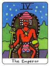 The Emperor Tarot Card - African Tarot Deck