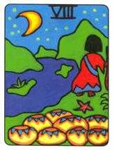 Eight of Cauldrons Tarot Card - African Tarot Deck