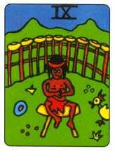 Nine of Ghosts Tarot Card - African Tarot Deck