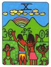 Ten of Hearts Tarot Card - African Tarot Deck