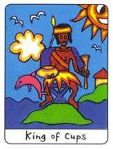 Roi of Cups Tarot Card - African Tarot Deck