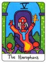 The Hierophant Tarot Card - African Tarot Deck