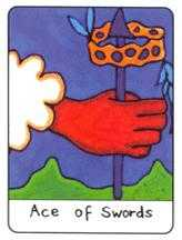 Ace of Bats Tarot Card - African Tarot Deck