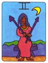 Two of Swords Tarot Card - African Tarot Deck