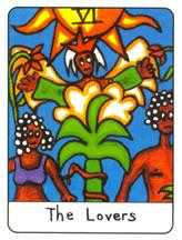The Lovers Tarot Card - African Tarot Deck