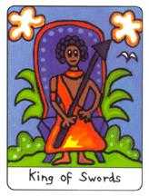 Roi of Swords Tarot Card - African Tarot Deck