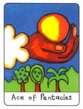 Ace of Coins Tarot Card - African Tarot Deck