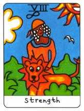 Strength Tarot Card - African Tarot Deck
