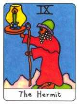 The Hermit Tarot Card - African Tarot Deck