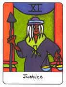 Justice Tarot card in African Tarot deck