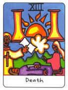 Death Tarot card in African Tarot Tarot deck
