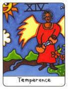 Temperance Tarot card in African Tarot deck