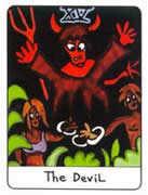 The Devil Tarot card in African Tarot Tarot deck