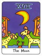 The Moon Tarot card in African Tarot deck