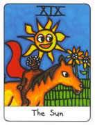 The Sun Tarot card in African Tarot deck