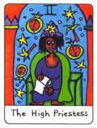 The High Priestess Tarot card in African Tarot Tarot deck
