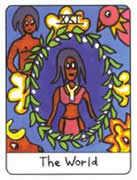 The World Tarot card in African Tarot deck