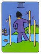 Three of Wands Tarot card in African Tarot Tarot deck