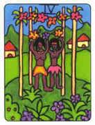 Four of Wands Tarot card in African Tarot Tarot deck