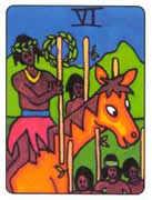 Six of Wands Tarot card in African Tarot Tarot deck