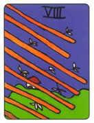 Eight of Wands Tarot card in African Tarot deck