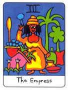The Empress Tarot card in African Tarot Tarot deck