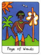 Page of Wands Tarot card in African Tarot deck