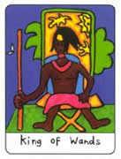 King of Wands Tarot card in African Tarot Tarot deck