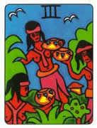 Three of Cups Tarot card in African Tarot Tarot deck