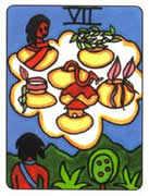 Seven of Cups Tarot card in African Tarot deck