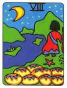 Eight of Cups Tarot card in African Tarot Tarot deck