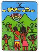 Ten of Cups Tarot card in African Tarot Tarot deck
