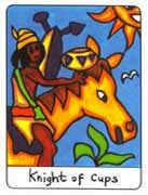 Knight of Cups Tarot card in African Tarot Tarot deck