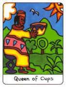 Queen of Cups Tarot card in African Tarot Tarot deck