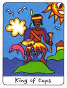 King of Cups Tarot card in African Tarot deck
